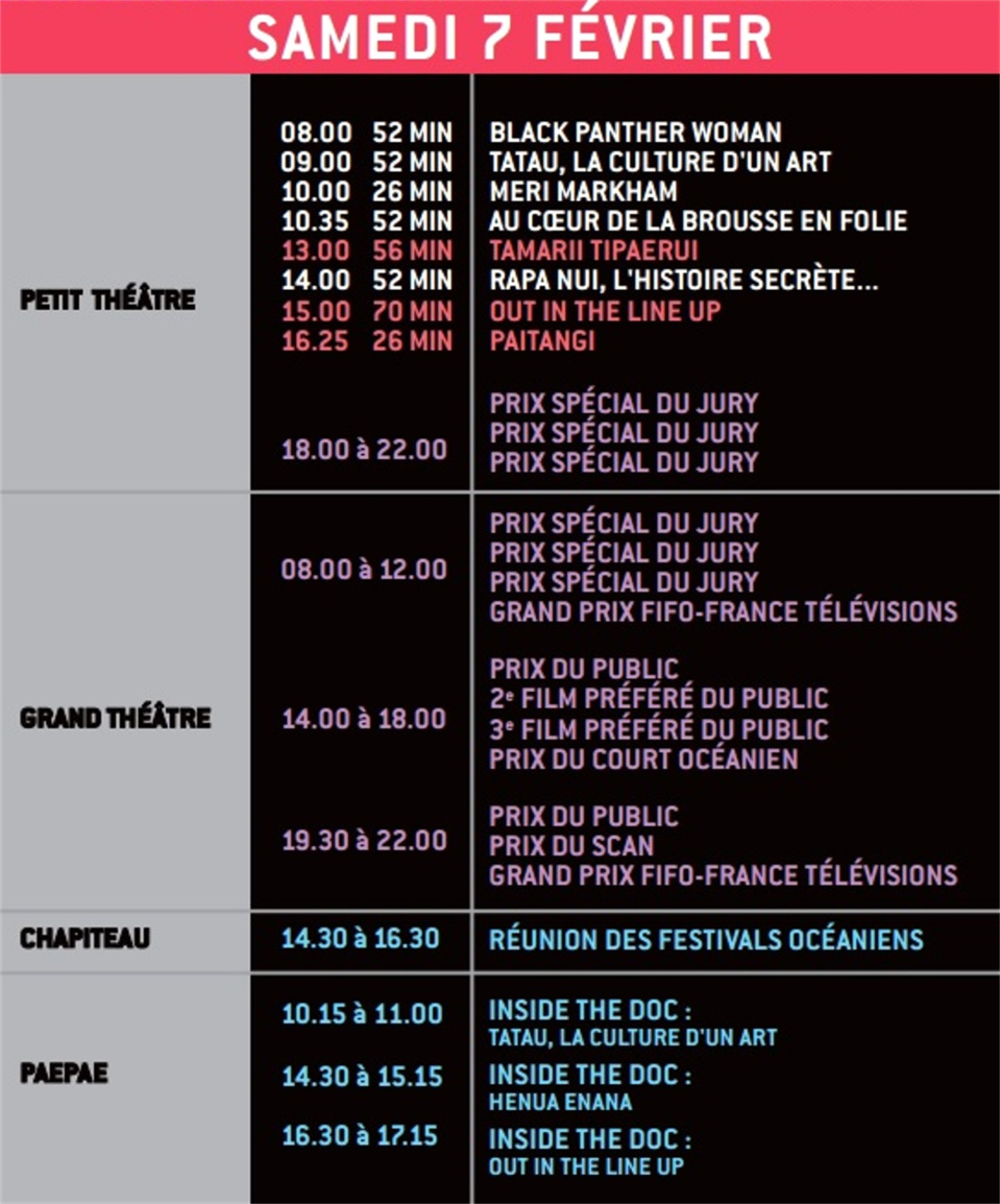 Le programme du FIFO 2015