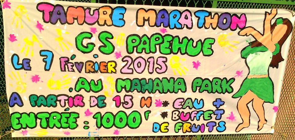 Venez rire et danser au Tamure Marathon, samedi 7 février 2015.
