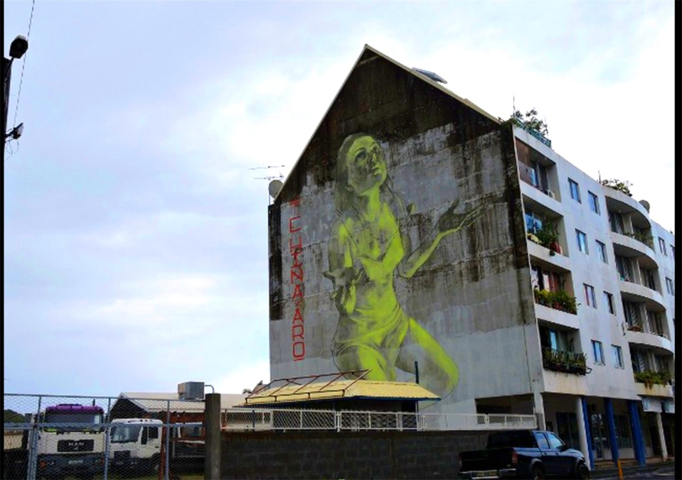 Fresque - Vahine - Rue Louis Martin à La Mission