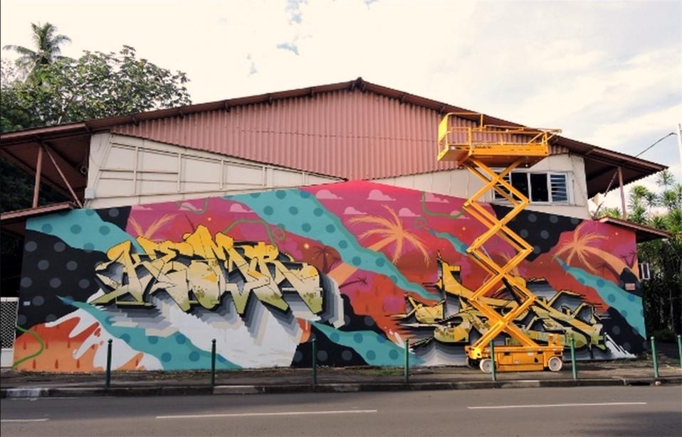 Fresque - Imprimerie officielle - Papeete
