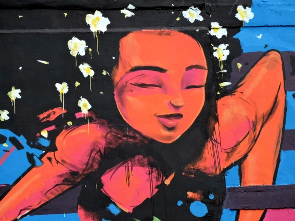Fresque - Vahine - Pont de l'est