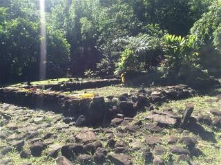 Marae visible lors d'une randonnée à la papenoo