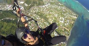Activités dans le ciel de Tahiti