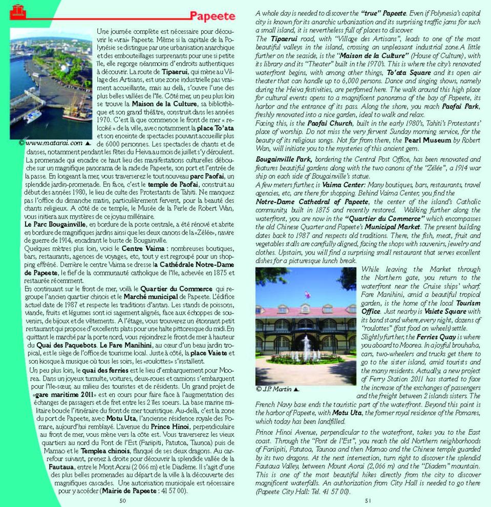 Edition 2015 du guide de Tahiti - visite de Papeete
