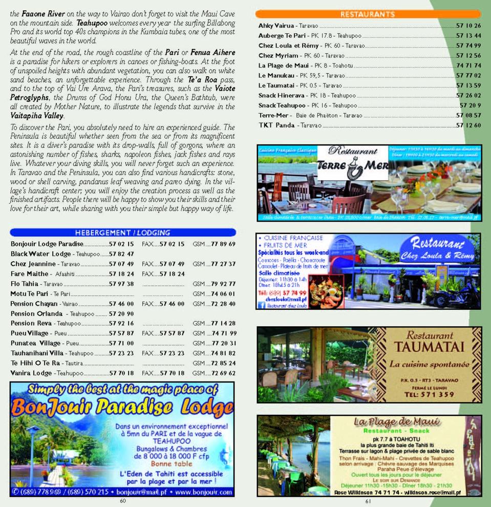 Edition 2015 du guide de Tahiti - visite de Tahiti