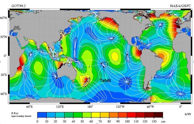 Les marées quasi uniques au monde de Tahiti